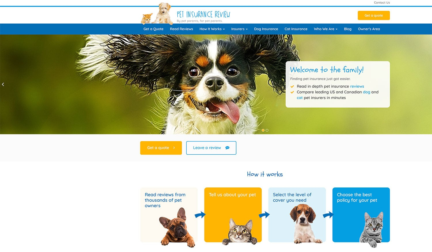 Pet Insurance Review website gets new look