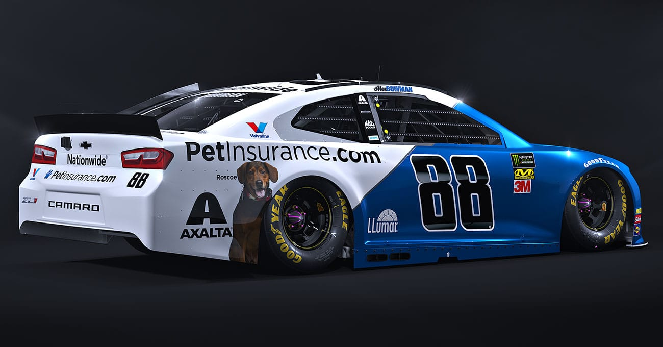 Nationwide goes for a spin on NASCAR race car