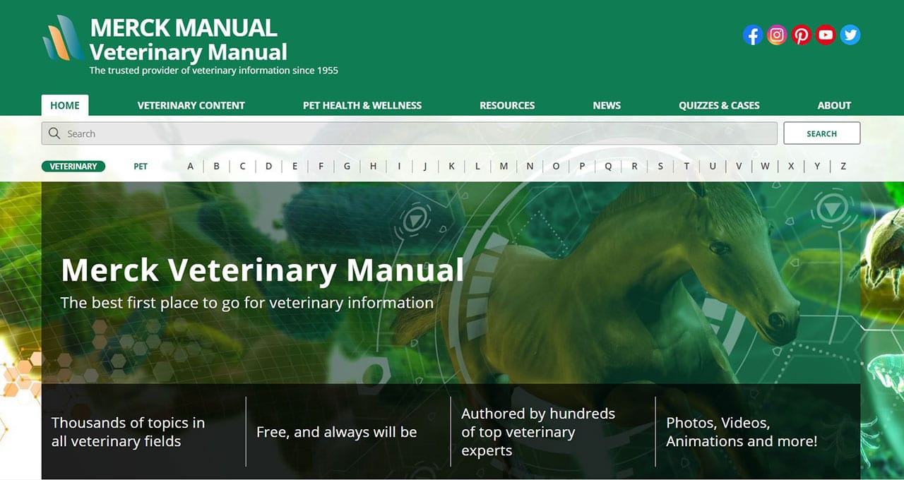 Merck Veterinary Manual website gets a makeover